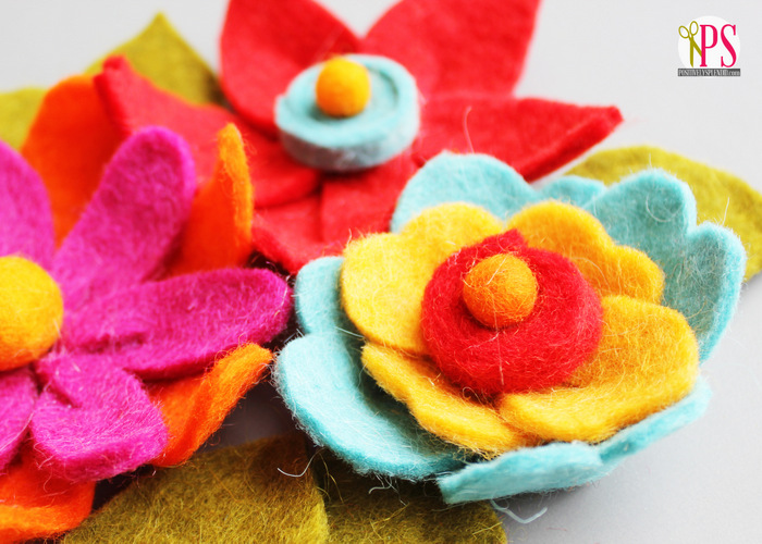 felt flower craft ideas diy felt flower tutorial 4456