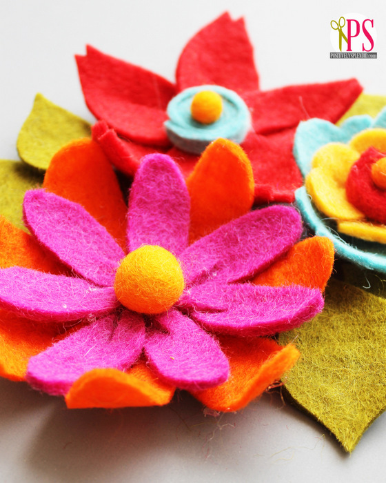 DIY Felt Flower Tutorial