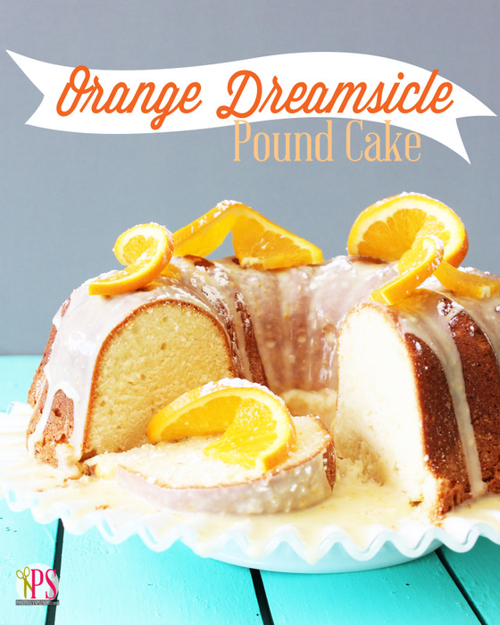 Orange Dreamsicle Pound Cake Recipe :: PositivelySplendid.com