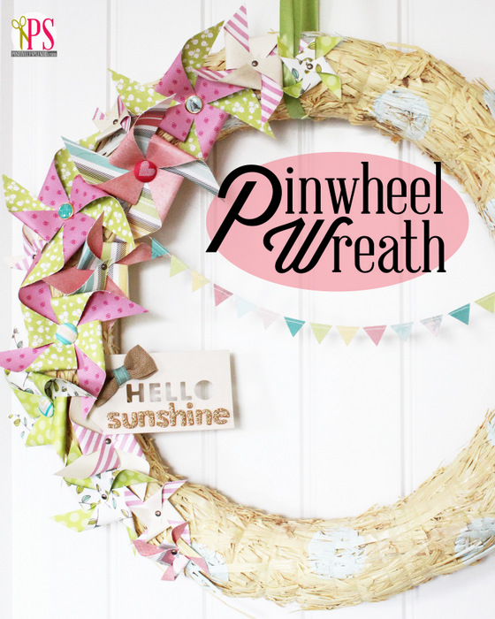 Spring Pinwheel Wreath :: PositivelySplendid.com