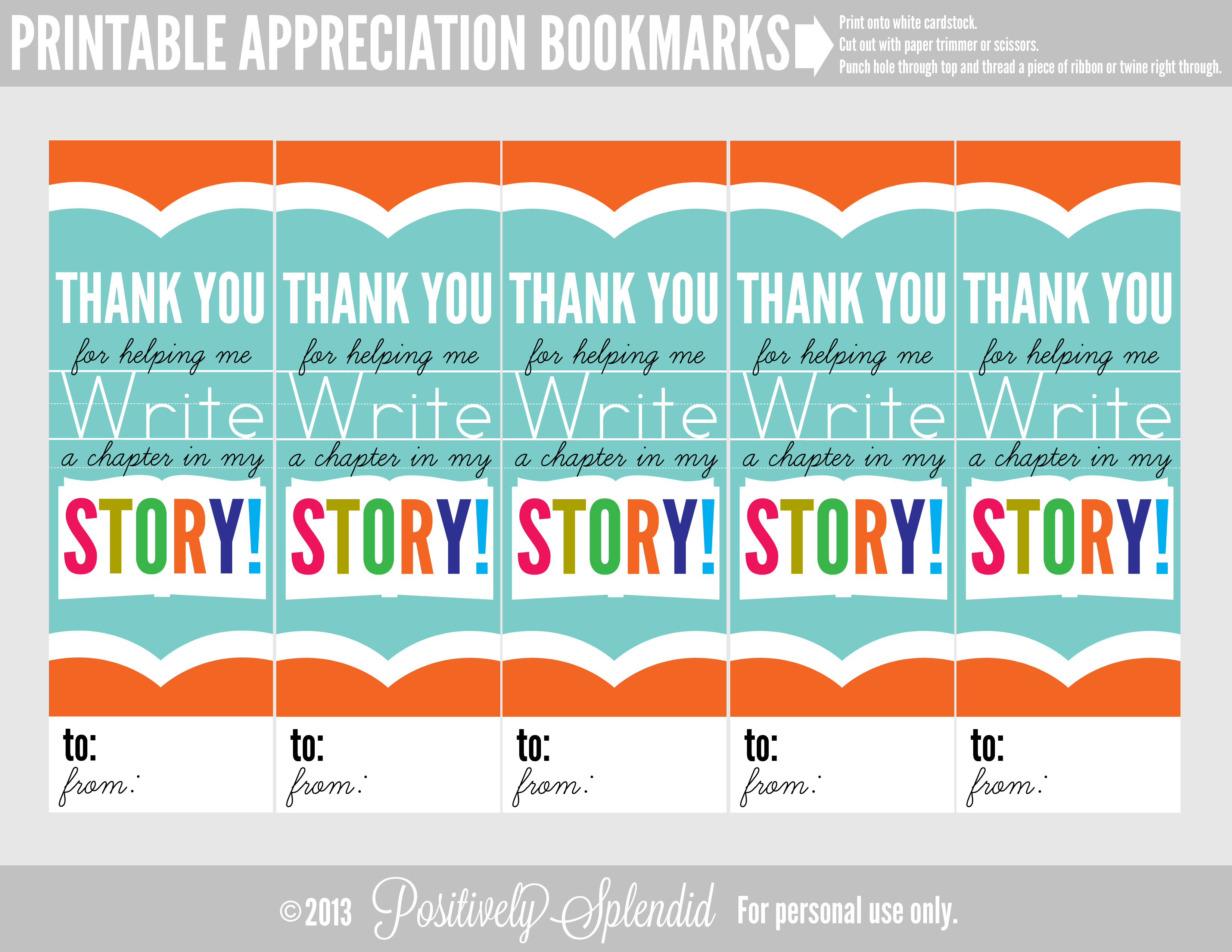 Appreciation Bookmarks