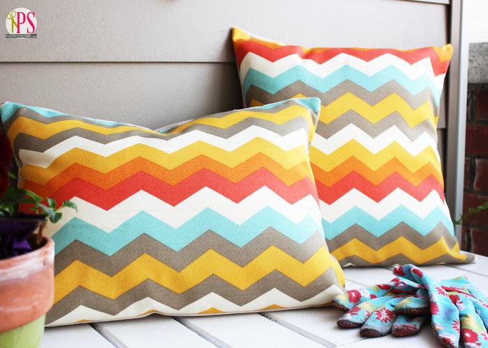 outdoor chevron pillow covers