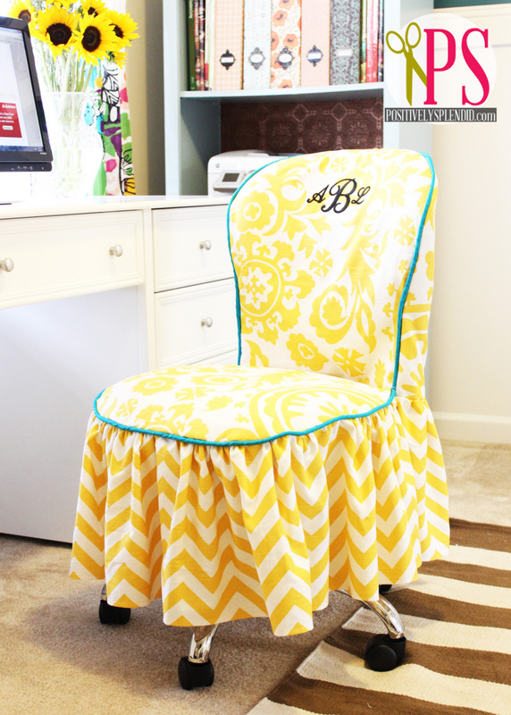 Office Chair Slipcover Tutorial :: PositivelySplendid.com