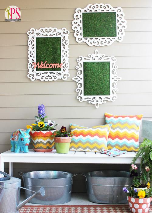 spring front porch garden bench 4