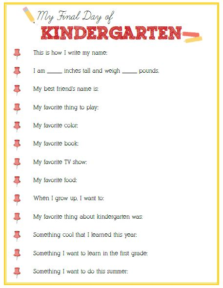 Worksheets Questions For Kindergarten final day of kindergarten interview click image or link to download positively splendid crafts sewing recipes and home decor