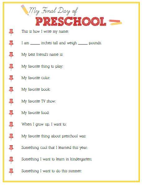 First Day of Preschool Interview