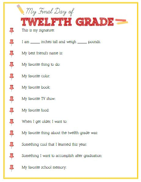 Final Day of Twelfth Grade Interview
