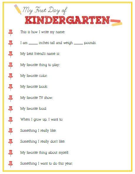 First Day of Kindergarten Interview