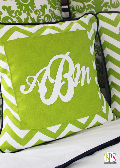 monogram pillow cover 1