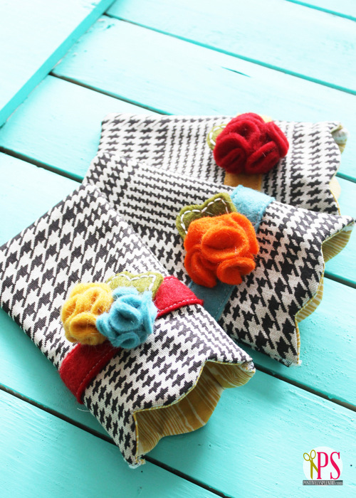 Scalloped Sunglasses Case Sewing Pattern :: PositivelySplendid.com