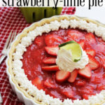 Fresh Strawberry Lime Pie :: PositivelySplendid.com