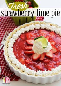 Fresh Strawberry-Lime Pie