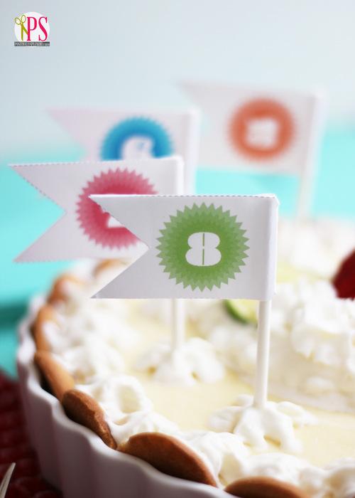 printable pie pennants