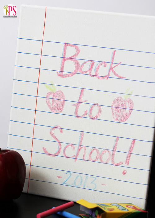 Chalkboard Notebook Paper Photo Prop at Positively Splendid
