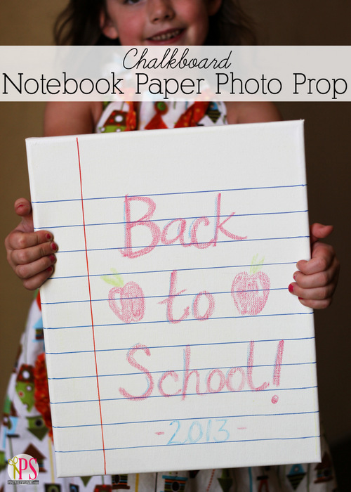 Chalkboard Notebook Paper Photo Prop at Positively Splendid