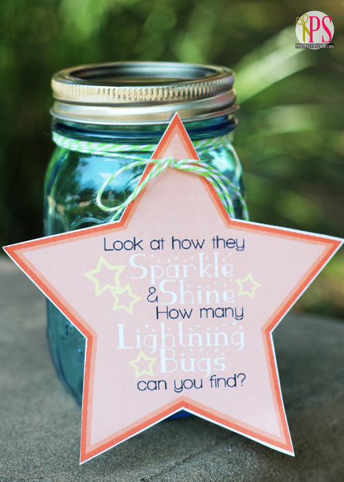 Lightning Bug Catcher Idea with Free Printables
