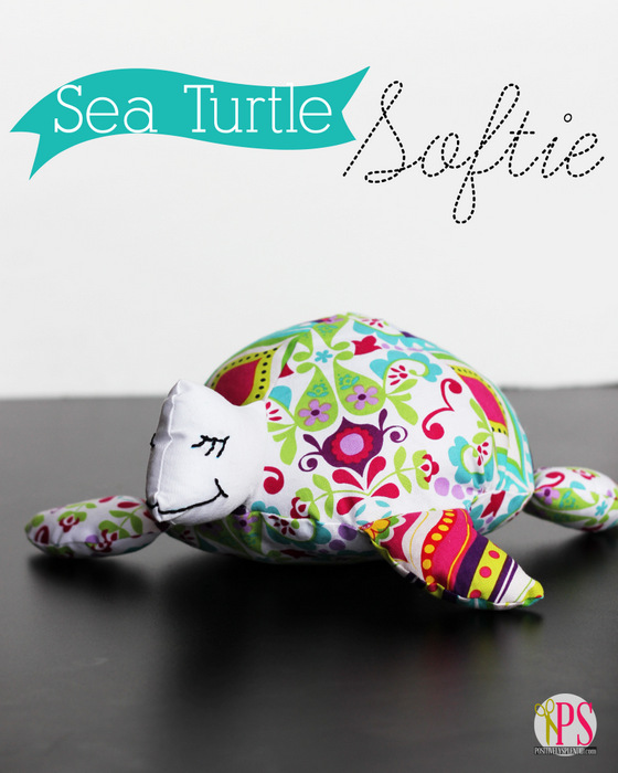 Sea Turtle Softie Pattern and Tutorial at PositivelySplendid.com