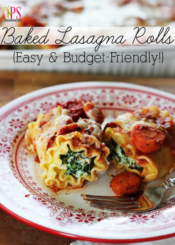 Baked Lasagna Rolls at Positively Splendid
