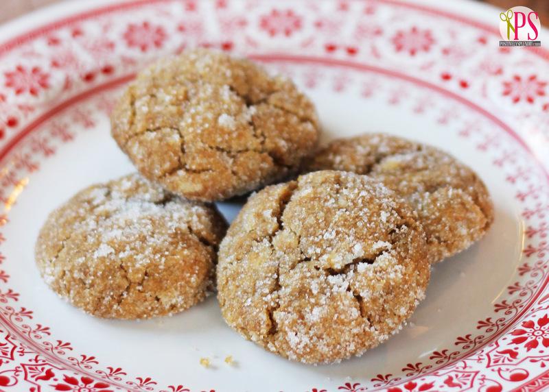 Sugar-Coated Ginger Crinkle Cookies at Positively Splendid