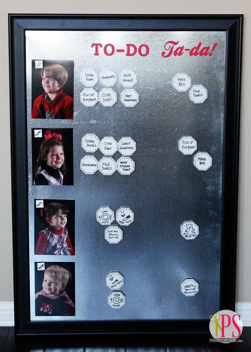 magnetic tile chore chart 1