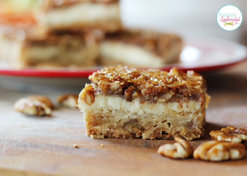 ... layer of cheesecake, and a layer of pecan pie in every bite. YUM