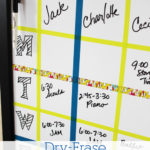 Dry-Erase Weekly Schedule Board #ScotchBTS