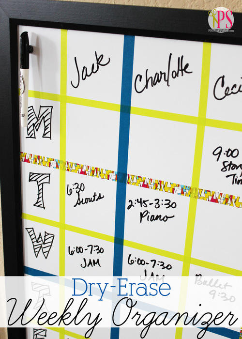 Dry-Erase Weekly Organizer at Positively Splendid