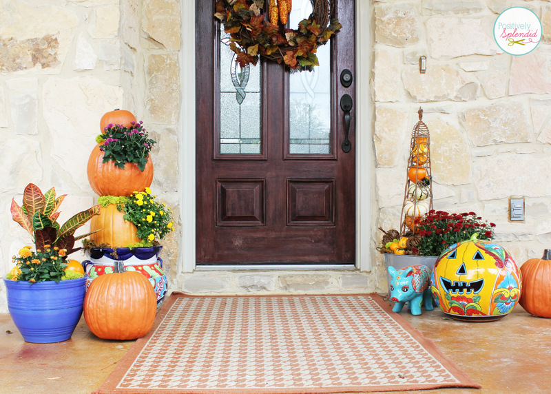 Outdoor fall decorating ideas Beautiful fall front porches