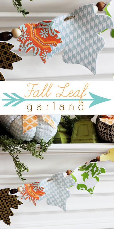 Fall Leaf Garland at Positively Splendid