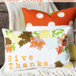 Appliqued Fall Leaf Pillow