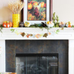 Fall Mantel at PositivelySplendid.com