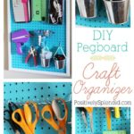 DIY Pegboard Craft Organizer
