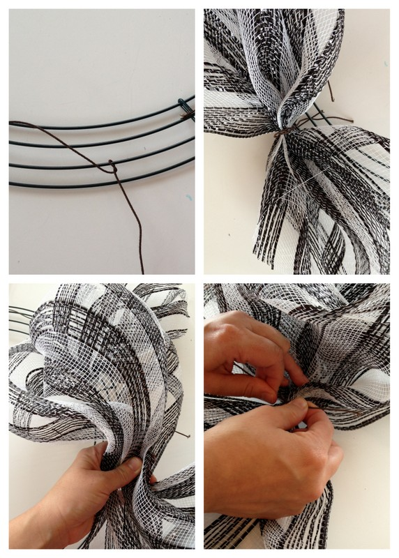 How to Make a Deco Mesh Wreath at Positively Splendid
