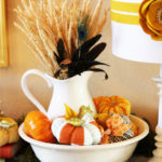 Vibrant Fall Vignette at Positively Splendid