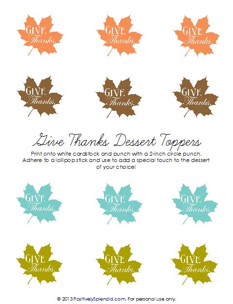 Thanksgiving Dessert Toppers from Positively Splendid #CMcantwaitCGC
