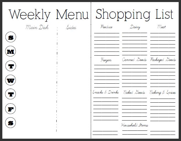 7 essential menu planning tips and free menu and recipe printable. Black Bedroom Furniture Sets. Home Design Ideas
