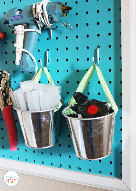 DIY Pegboard Craft Organizer. Every creative space needs one!