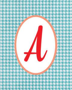 Blue Monogram A