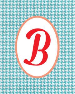 Blue Monogram B