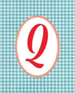 Blue Monogram Q
