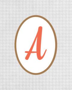 Grey Monogram A