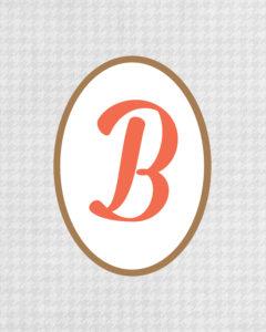 Grey Monogram B
