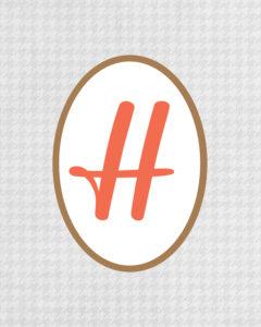Grey Monogram H