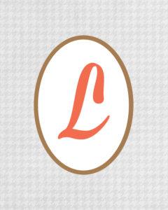 Grey Monogram L