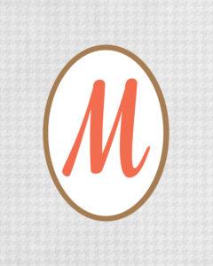 Grey Monogram M