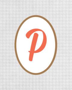 Grey Monogram P