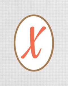 Grey Monogram X