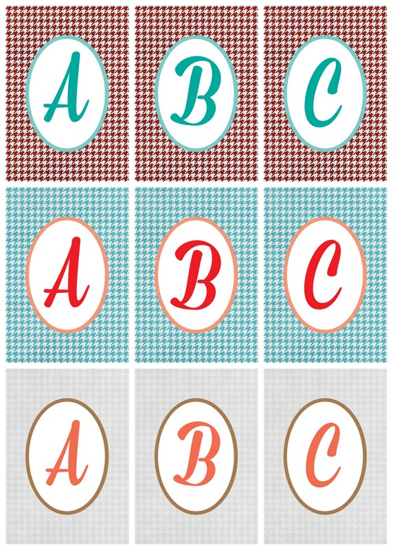 picture relating to Printable Monogram named Free of charge Printable Houndstooth Monograms