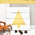 Pallet Wood Silhouette Christmas Tree (Swell Noël Series)