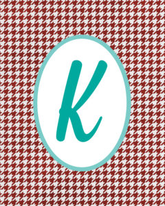 Red Monogram K